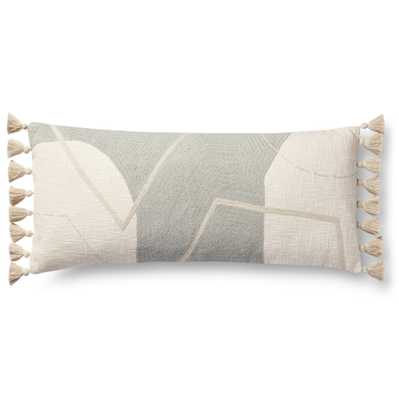 """PILLOWS P0942 GREY / MULTI 13"""" x 35"""" Cover w/Down - Loma Threads"""