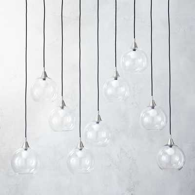 Firefly 9 Bulb Nickel Pendant Light - CB2