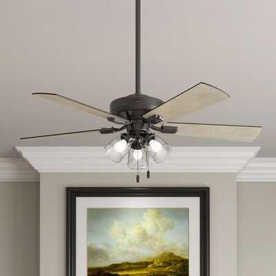 """52"""" Crestfield 5 Blade Ceiling Fan, Light Kit Included - Wayfair"""