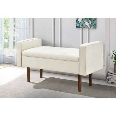 Maude Upholstered Flip Top Storage Bench - Wayfair