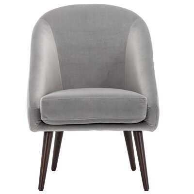"Velia 23.6"" Modern Barrel Chair, Gray - Wayfair"