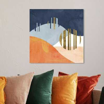 The Desert Night by Oliver Gal - Floater Frame Graphic Art Print on Canvas - AllModern