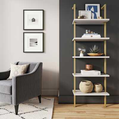 Janiya 72'' H x 12'' W Metal Ladder Bookcase - Wayfair