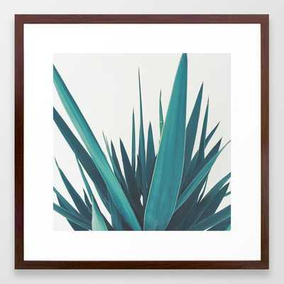Yucca Leaves Framed Art Print by Cassia Beck - Conservation Walnut - MEDIUM (Gallery)-22x22 - Society6