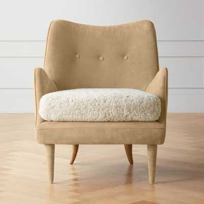 Jed Suede/Shearling Chair - CB2