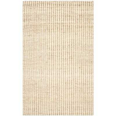Washed Stripes Jute Rug, 6'x9', Natural & Ivory - West Elm