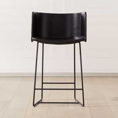 "Yukon Counter Stool 24"" Black - CB2"