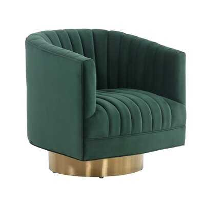 Tetrault Josephine Swivel Barrel Chair - Wayfair