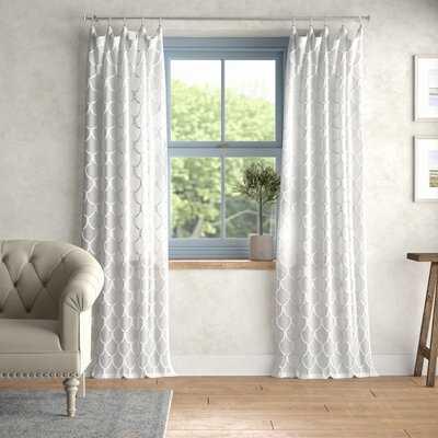 Louisville Geometric Sheer Rod Pocket Single Curtain Panel - Birch Lane