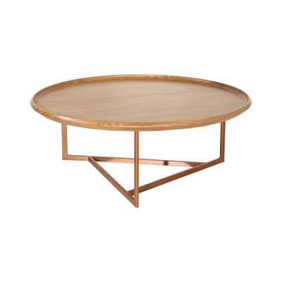 Knickerbocker Round Coffee Table Cinnamon - Manhattan Comfort, Brown - Target