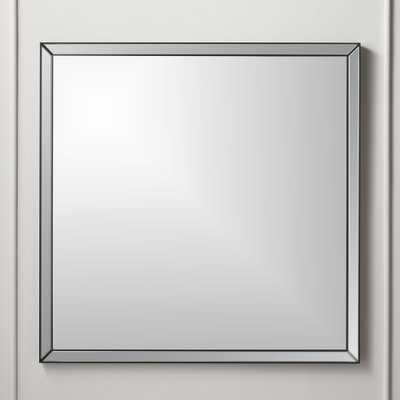 "Bisel Beveled Square Mirror Black 36"" - CB2"