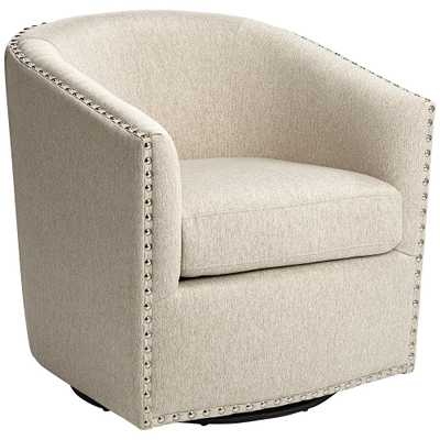 Fullerton II Oatmeal Swivel Accent Chair - Style # 79H34 - Lamps Plus