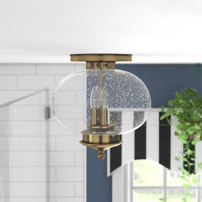 Shielo 3 - Light Simple Globe Semi Flush Mount - Wayfair
