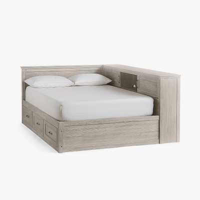Hampton Corner Storage Bed, Full, Brushed Fog, In-Home - Pottery Barn Teen