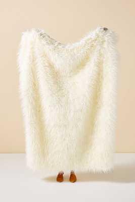 Makura Faux Fur Throw Blanket - Anthropologie