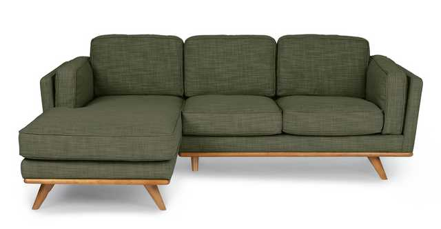 Timber Olio Green Left Sectional - Article