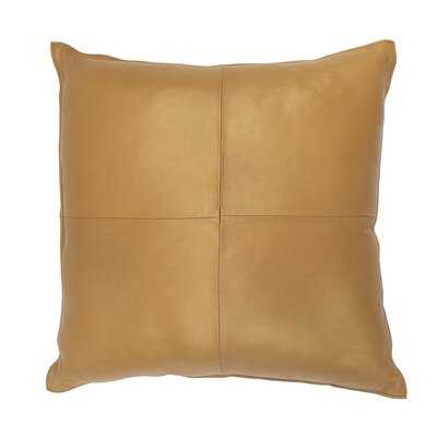 Orona Soft Metallic Square Leather Pillow Cover & Insert - Wayfair