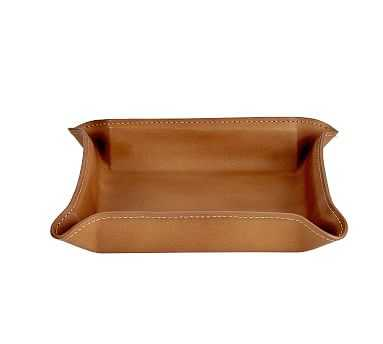 Marlo Leather Catchall, Tan - Pottery Barn