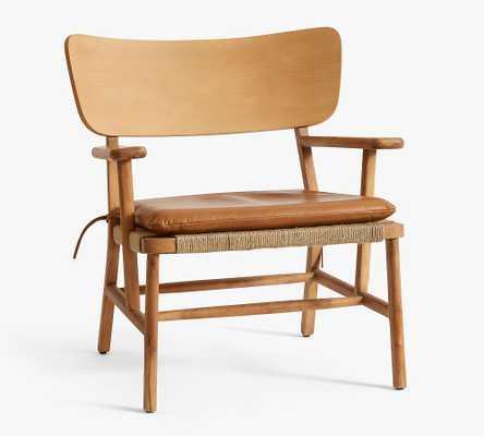 Danish Leather Chair, Caramel - Pottery Barn