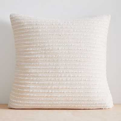 """Soft Corded Pillow Cover, Set of 2, Natural Canvas, 24""""x24"""" - West Elm"""