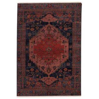 Zolan Oriental Red/Dark Blue Area Rug - Wayfair