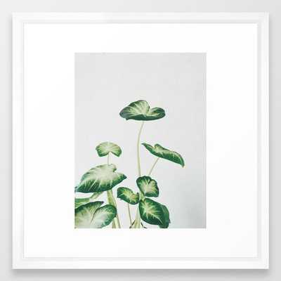 Cluster Of Leaves Framed Art Print by Cassia Beck - Vector White - MEDIUM (Gallery)-22x22 - Society6
