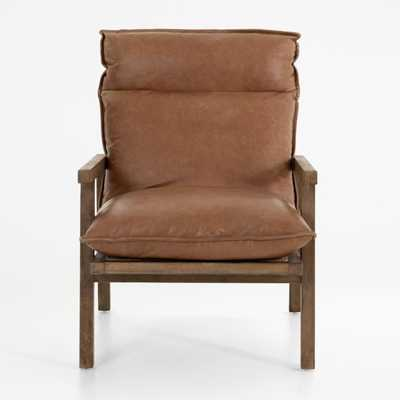 Tanner Chaps Saddle Leather Chair - Crate and Barrel