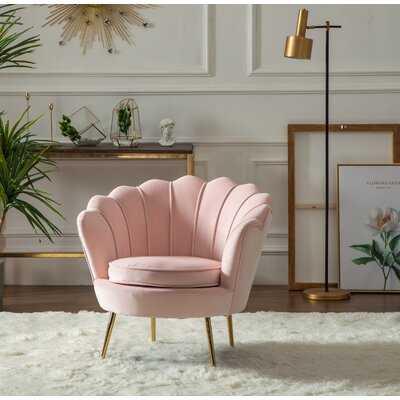 """Lauretta 32"""" W Tufted Velvet Barrel Chair - Wayfair"""