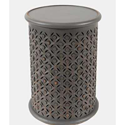 Darrah Solid Wood Tray Top Drum End Table - Wayfair
