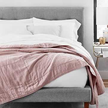 Belgian Linen Blanket, Adobe Rose, Full/Queen - West Elm