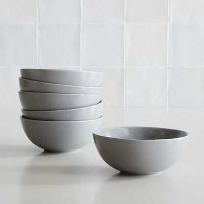 Dinnerware Stoneware, Cereal Bowl, Stoneware, Dove Gray, Set of 6 - West Elm