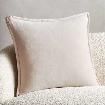 "20"" Ava Tan Pillow with Down-Alternative Insert - CB2"