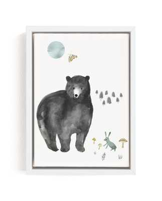 Bear And Bunny Children's Art Print - Minted
