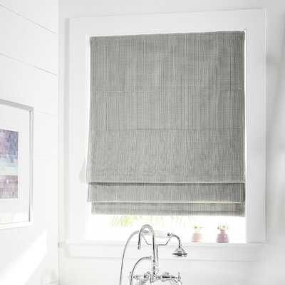 Room Darkening Gray Roman Shade - Wayfair
