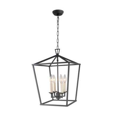 Rockies Containers 4-Light Antique Metal Lantern Chandelier - Home Depot