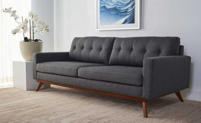 Gneiss Modern Linen Sofa - Slate Grey - Arlo Home - Arlo Home