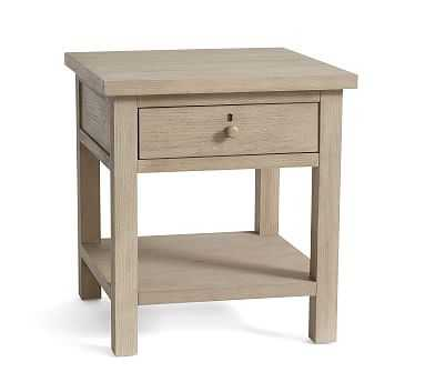 Farmhouse End Table, Gray Wash - Pottery Barn