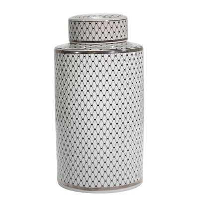 Fontaine Black 18'' Ceramic Jar - Wayfair