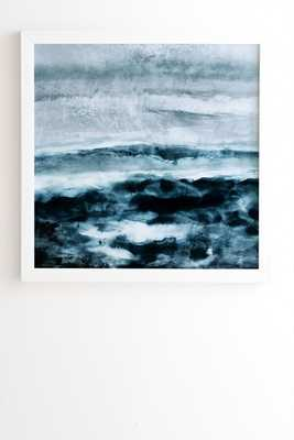"Abstract Waterscape by Iris Lehnhardt - Framed Wall Art Basic White 8"" x 9.5"" - Wander Print Co."