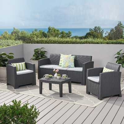 Bartz 4 Piece Sofa Seating Group with Cushions - AllModern