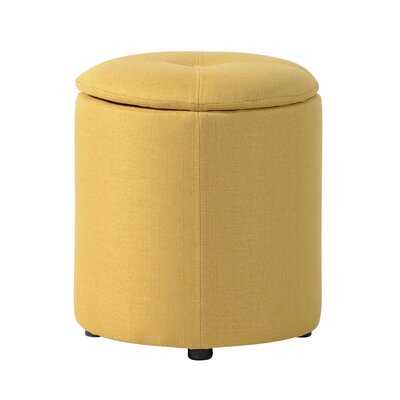 "Chacko 14"" 100% Polyester Round Solid Color Storage Ottoman - Wayfair"
