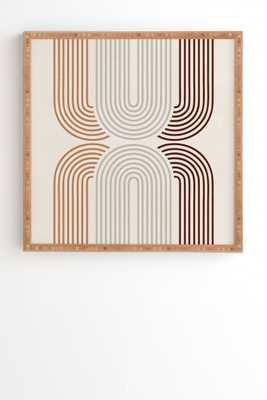 "Iveta Abolina Mid Century Line Art VII Framed Wall Art - 20"" x 20"" - Wander Print Co."