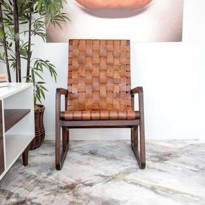 "Bima 23"" W Top Grain Leather Lounge Chair - Wayfair"