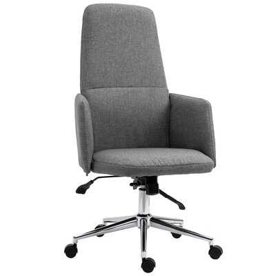SOHO Style High Back Office Chair Breathable Fabric Computer Home With Wheels, High Back, Grey - Wayfair