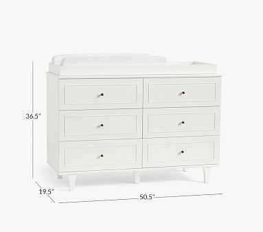 Dawson Extra-Wide Nursery Dresser & Topper Set, Acorn, In-Home Delivery - Pottery Barn Kids