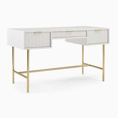 We Quinn Collection Haze/Antique Brass Standard Desk - West Elm