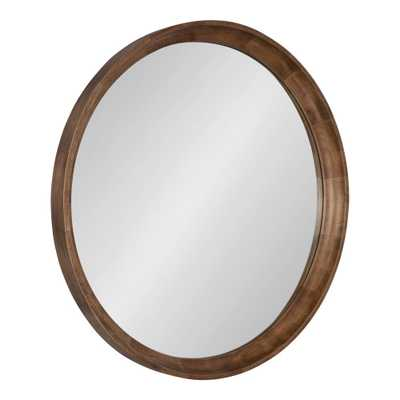 Kate and Laurel Colfax Round Natural Wall Mirror - Home Depot