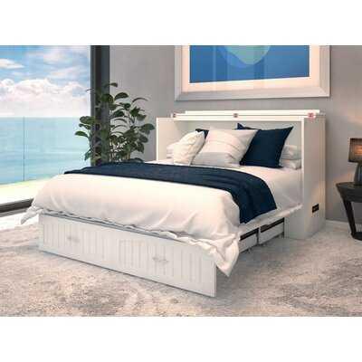 Emil Queen Storage Murphy Bed with Mattress - Wayfair