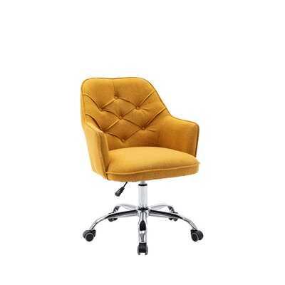 Velvet Swivel Shell Chair For Living Room, Modern Leisure Arm Chair ,Office Chair  Off-White Linen - Wayfair