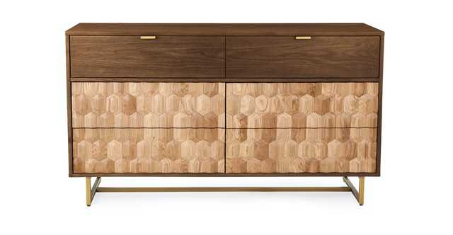 Geome 6 Drawer Double Dresser - Article